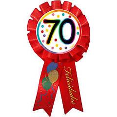 Escarapela 70 cumpleaños