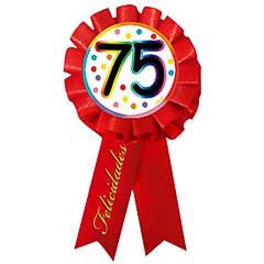 Escarapela 75 cumpleaños roja