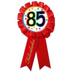 Escarapela 85 cumpleaños roja
