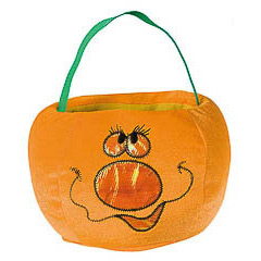 Bolsa trick or treat calabaza nariz grande