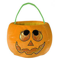 Bolsa trick or treat calabaza nariz triangular
