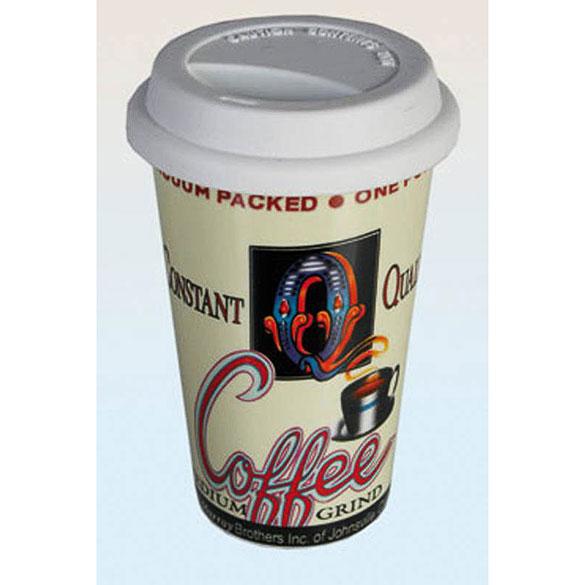 Vaso cerámica coffe con tapa de silicona Quality Constant Coffe