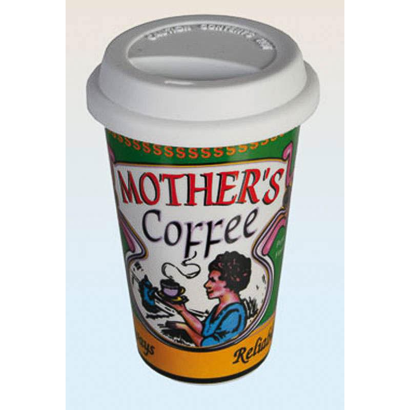 Vaso cerámica coffe con tapa de silicona Mothers Coffe