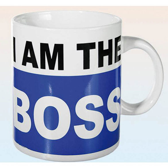 Taza de café I am the boss extra grande