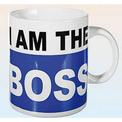 Taza de café I am the boss extra grande - Ítem