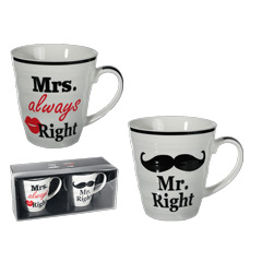 Set tazas Mrs. & Mr.