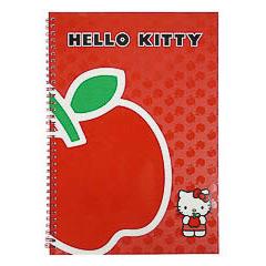 Cuaderno grande Hello Kitty color rojo
