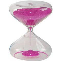 Reloj de arena de cristal y arena rosa 1/2 hora
