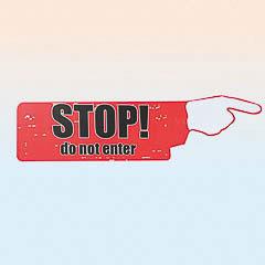 Cartel de madera Vintage, Stop do not enter
