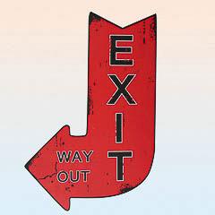 Cartel de madera Vintage, Exit
