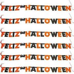 Guirnalda letras cartón articulado Feliz Halloween