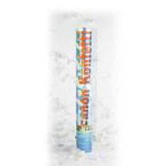 Lanzador de confeti blanco 40 cm