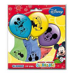 Globos de Látex Mickey y sus amigos colores surtidos. Pack 10 unidades