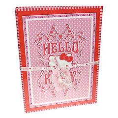 Carpeta de cartón plastificado Hello Kitty modelo lunares