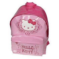 Mochila Hello Kitty color fucsia y rosa charol