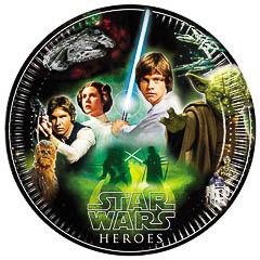 Pack 8 Platos Star Wars 23 cm
