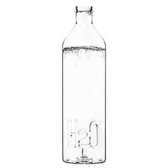 Botella de cristal para agua H2O
