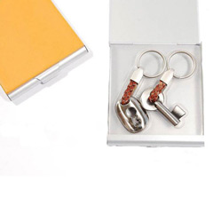Set 2 llaveros modelo llave y cerradura