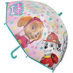 Paraguas Paw Patrol transparente para niña