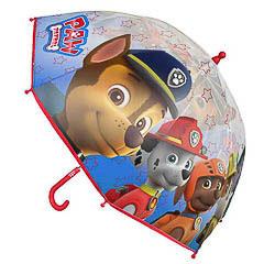 Paraguas Paw Patrol transparente para niño