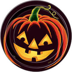 Platos Calabaza Halloween, Pack 8 u.