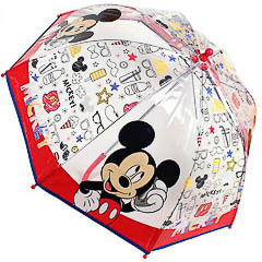 Paraguas infantil Mickey Mouse transparente burbuja