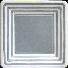 Pack 8 platos cuadrados 18,30 cm Navidad plata pequeños
