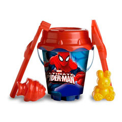 Cubo playa y accesorios Spiderman