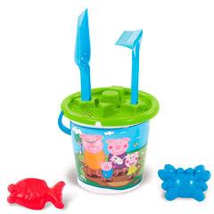 Cubo playa y accesorios Peppa Pig
