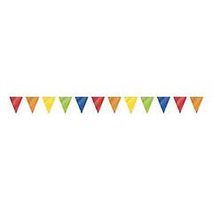Guirnalda banderines triangulares rojo, blanco, azul