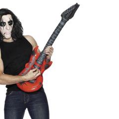 Guitarra eléctrica inflable de plástico