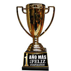 Copa trofeo cumpleaños 1 año más