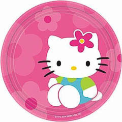 Pack 8 Platos de 17,80 cm de díametro Hello Kitty