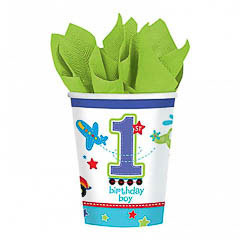 Vasos Cumpleaños 266 ml, Pack 8 u.