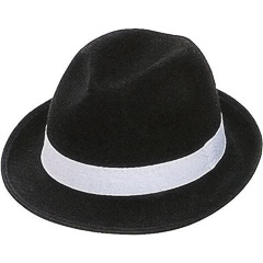 Sombrero fieltro tipo gangster adulto talla única