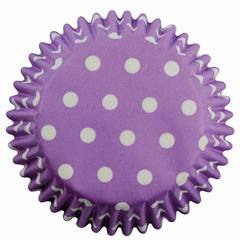 Pack de 60 cápsulas cupcakes lavanda con lunares PME