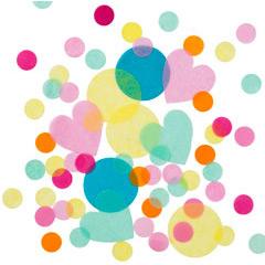 Confeti papel formas surtidas de colores