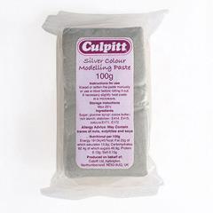 Pasta de Modelar Plata, 100 gramos Culpitt