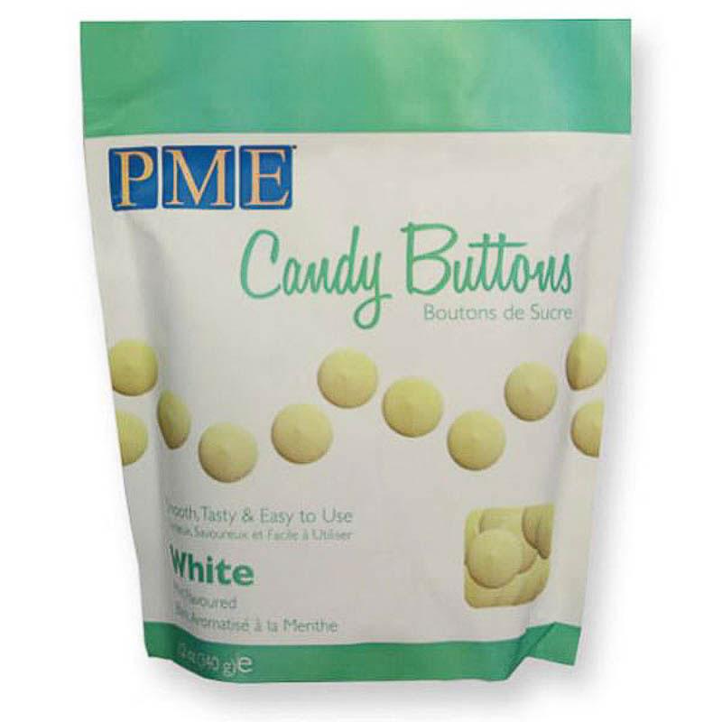 Candy Melts PME color blanco sabor menta