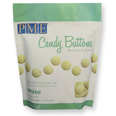 Candy Melts PME color blanco sabor menta