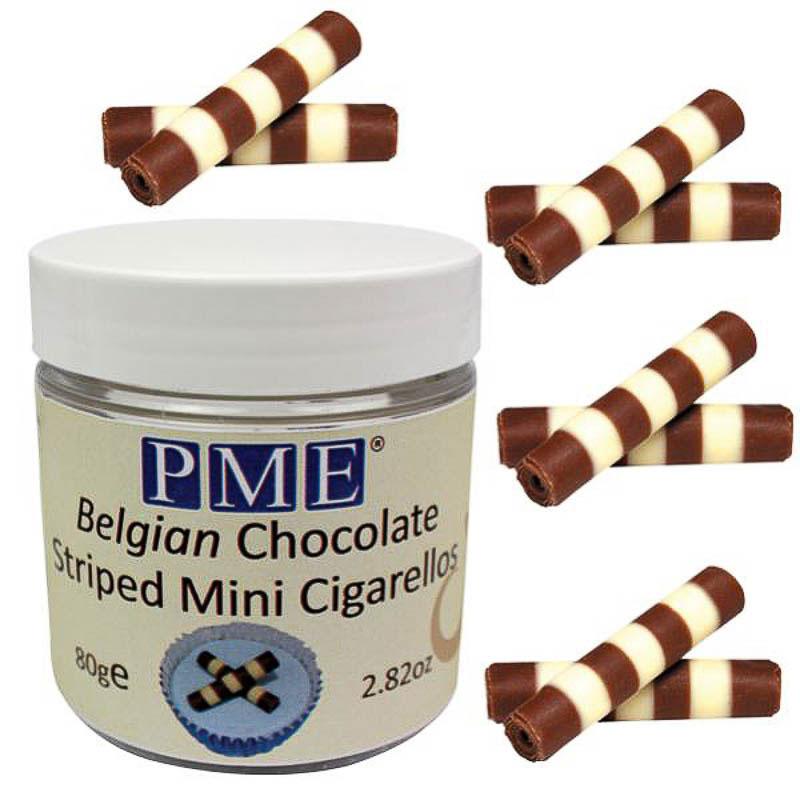 Auténticos canutillos de chocolate Belga
