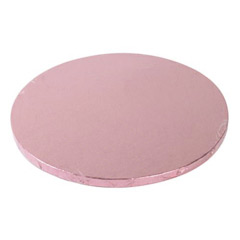 Base/cake drum redonda para tartas en color rosa