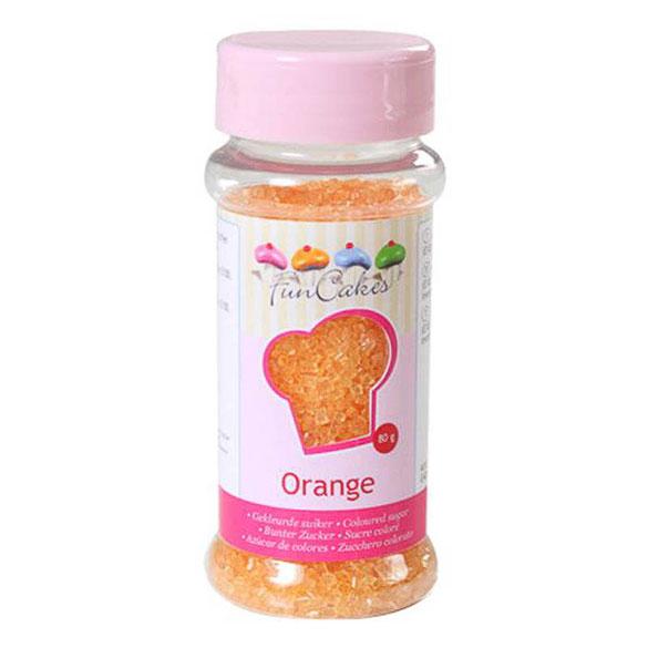 Bote azúcar de color naranja para decorar FunCakes