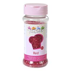 Bote azúcar de color rojo para decorar Funcakes