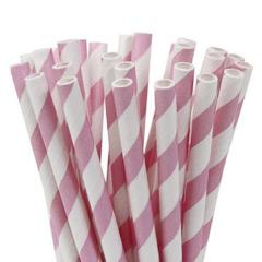 Pajitas/palillos cake pops rosa y banco 15,00 cm, Pack 20 u.