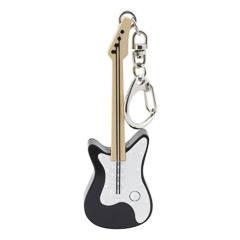 Llavero guitarra eléctrica blanca y negra
