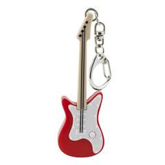 Llavero guitarra eléctrica blanca y roja