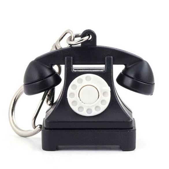 Llavero teléfono retro
