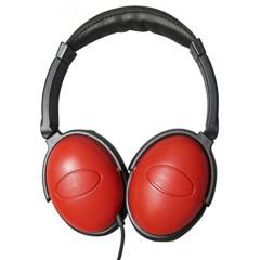 Cascos rojos con cable