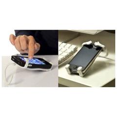 Soporte universal flexible de silicona para móvil blanco